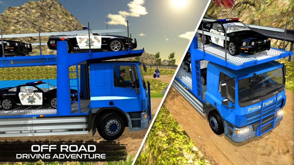 OffRoad Police Transport truck for pc windows and mac